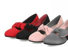 Mary Jane Shoe Women Round Toe Flats Sweet Bowknot Girl Preppy Shoe us Size