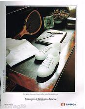 Publicité Advertising 1991 Basket chaussures Tennis Superga
