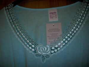 Graziella weiß Damen Sleepshirt Nachthemd mit 1//1 Arm Baumwolle nur Gr. 48