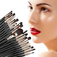 20pcs Makeup Brushes Kit Set Powder Foundation Eyeshadow Lip Brush Eyeliner X1H9