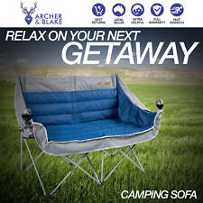 Oztrail Double Moon Galaxy Sofa Chair Arms Rated 240kg Camping twin