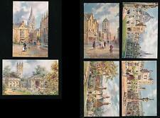 OXFORDSHIRE TUCKS OILETTE 7643 SER.I PICTURESQUE OXFORD SET of 6 ARTIST WIMBUSH