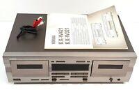 Yamaha KX-W321 Doppel Kassette Deck Dolby 230v Euro Stecker Malaysia #615