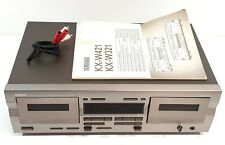 Yamaha KX-W321 Double Cassette Deck Dolby 230v Europlug Malaysia #615