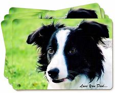 Border Collie Dog 'Love You Dad' Picture Placemats in Gift Box, DAD-18P