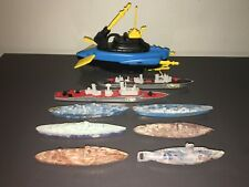 VINTAGE WARSHIP FLEET - PLASTIC AND METAL - CARRIERS TO SUBS - MATCHBOX & MORE!