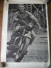 Vintage 1979 Triley printed The Great Escape Steve McQueen poster