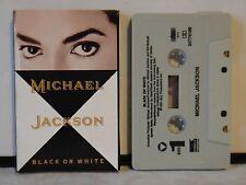 Vintage Michael Jackson Single Cassette Tape~Black Or White~ 1991