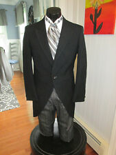 MENS VINTAGE VICTORIAN BLACK CUTAWAY TUXEDO & ASCOT INCLUDED SIZE 40R NB63