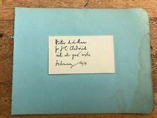 More details for 1934 original autograph and message from walter de la mare .