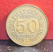 Vintage Louies Texas Red Hots Buffalo New York 50c in Trade Token