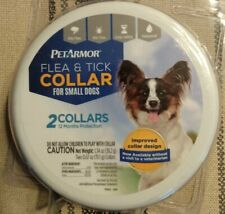 Pet Armor Flea & Tick Collar (2 Pack) For Small Dog 12 Month Protection*Sealed*