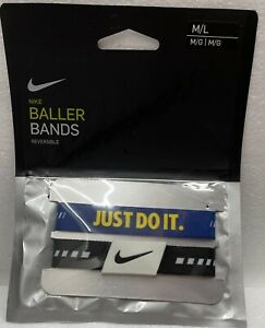 NIKE Basketball Reversible Baller Bands One Pair Size M/L New