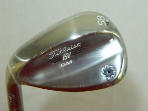 New LH Titleist Vokey SM7 Tour Chrome Steel 58* Lob Wedge LW 58.14K SM 7