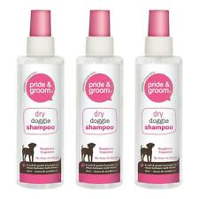 More details for pride & groom dry doggie shampoo raspberry scented dog cleans and conditions x3