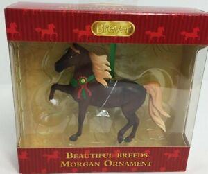 Breyer Morgan Beautiful Breeds Christmas Ornament Brown Horse Animals X-Mas New