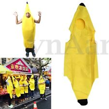 Unisex Banana Fruit Costume Fancy Dress Clothes Night Party Theme Show Halloween