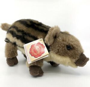 Hermann Teddy Young Wild Boar Baby Soft Toy Plush Hang Tags Seam Label 22cm 9in