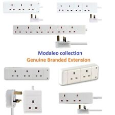 Extension Lead Cable Electric Plug Socket UK Mains Power 1 2 3 4 6 8 10 Gang Way