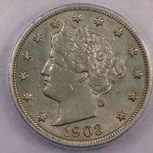 1903-P 1903 Liberty Head V Nickel ICG AU58 Details