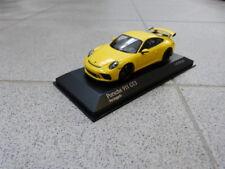 Porsche 911 991 GT3 Racing Yellow 2017 Limited MINICHAMPS MODEL CAR 1:43