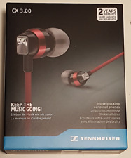 Brand New Boxed - Sennheiser CX 3.00 In-Ear canal Headphones : Red - FREEPOST