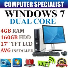 WINDOWS 7 COMPLET DELL ORDINATEUR DE BUREAU TOUR SET PC 4GB RAM 160GB HDD WI-FI