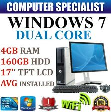 WINDOWS 7 COMPLETA DELL TORRE ORDENADOR FIJO SET PC 4GB RAM 160GB