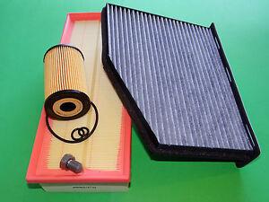 Ölfilter Luftfilter Aktivkohle Pollenfilter Audi A3 (8P) 1.6 TDI (66 & 77kW)