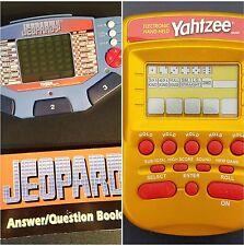 Yahtzee Electronic Game*2002 Hasbro And Jeopardy*1995 Tiger Electronics Set