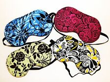 Set of 4 Sleep Masks - Comes As Shown  - Blue, Pink, Green and Yellow