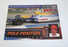1995 Futera Australian F1 Grand Prix Pole Position card #PP8 Nigel Mansell