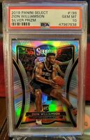 2019-20 Panini Select Premier Silver Zion Williamson RC PSA 10 Low POP  #199