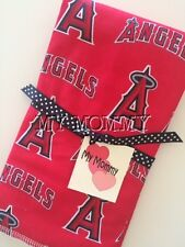 Baseball MLB Burp Cloth Made With  Anaheim Angels Cotton Fabric Infant Newborn