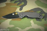 Spyderco C122GBBKP/S Tenacious Folding Knife Black G 10 Handle Black Blade