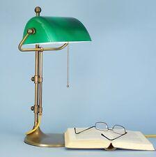 direkt vom Hersteller Bankerlampe Schreibtischlampe Tischlampe Messing grün 50CF