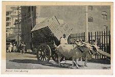 BOMBAY INDIA PC Postcard MUMBAI Asia ASIAN Indian MAHARASHTRA Bullock Cart