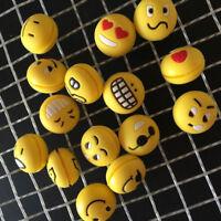 GT- 5Pcs Emoji Face Tennis Racket Silicone Shock Absorber Vibration Dampener