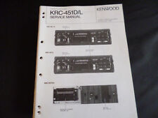 ORIGINALI service manual KENWOOD krc-451d/l