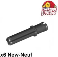 Lego Technic- 6x Connecteur Axe connector Axle Pin 3L 2L noir/black 18651 NEUF