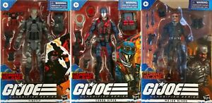 GI Joe Classified Series Cobra Island Firefly Cobra Viper Major Bludd 3-Pack