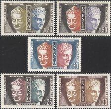 FRANCE (UNESCO) 1961 Bouddha/HERMES/Temple statues/HERITAGE/histoire 5 V Set n44836
