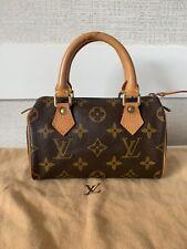 Authentic Louis Vuitton Monogram Mini Speedy Hand Bag Vintage