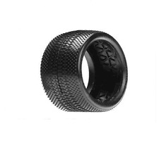 Losi - LOSA7761S - 1/8 Buggy Taper Pin Tires with Foam, Silver  (2)