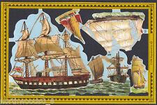 SHIPS SAIL BRITISH SCRAP MAMELOK PAPER EMBOSSED CUT DIARAMA SEA OCEAN WATER SAIL