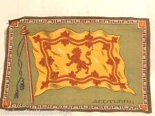 "Htflarge Antique 1912- 10 3/4"" x 7 3/8"" Tobacco Flannel Felt Silk Scotland Flag"