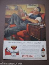 1944 WWII Imperial Whiskey Life Magazine Original Print Ad