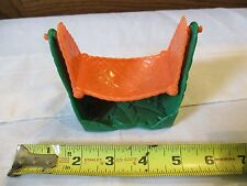 Fisher Price Little People Fence swing tree bird grass Orange Hammock 1997 Toy