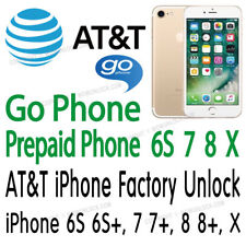 AT&T Unlock Service GoPhone Prepaid  iPhone X 8 8+ 7 7+ 6S 6S+ Plus Only