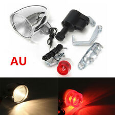 3W 6V  Friction Generator Dynamo Bicycle Motorized Bike Head Tail Light Lamp AU
